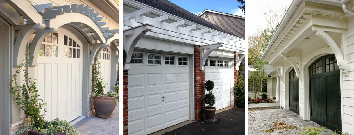 Give Your Garage Style And Curb Appeal With A Garage Arbor Garage Door Styles Portico Design Garage Exterior