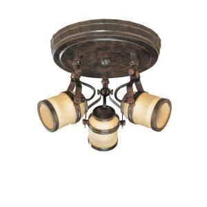 Hampton bay 3 light iron oxide ceiling semi flush mount fixture hampton bay 3 light iron oxide ceiling semi flush mount fixture ec9076io at the aloadofball Image collections