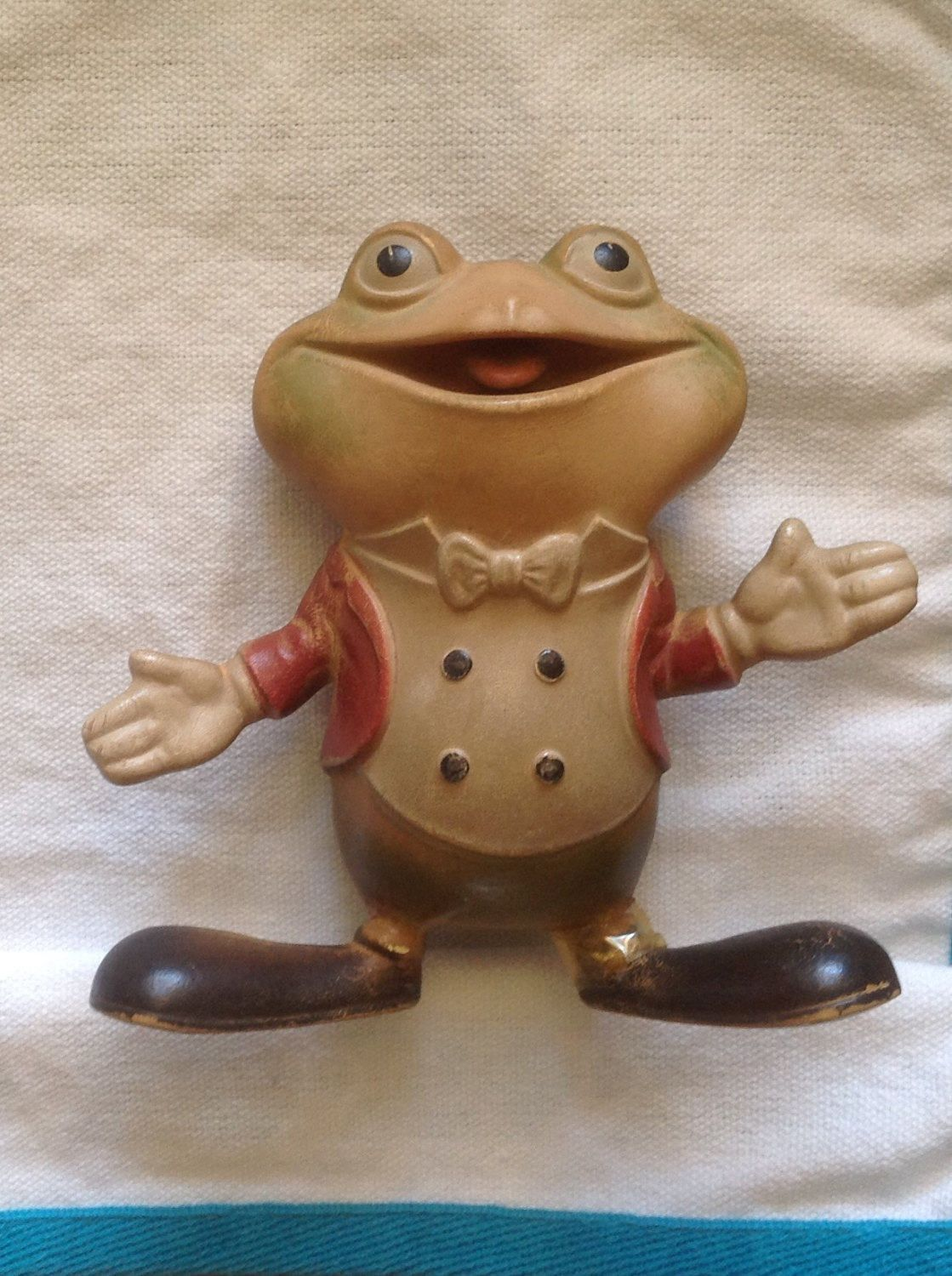 Rempel rubber toy / Froggy the Gremlin / 1940s rubber squeak toy ...