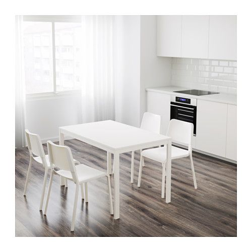 VANGSTA Mesa extensible - blanco | Ikea | Mesas de ikea ...