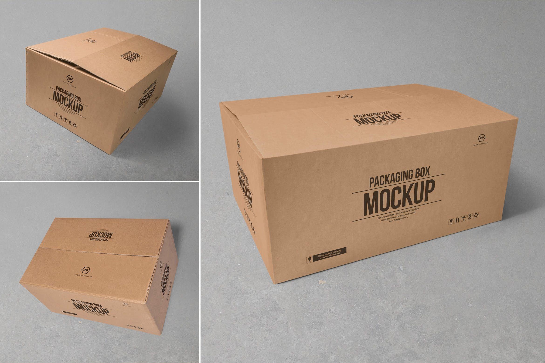 Download 3 Cardboard Box Mockups By Zippypixels On Envato Elements Box Mockup Mockup Packaging Box Custom Printed Boxes