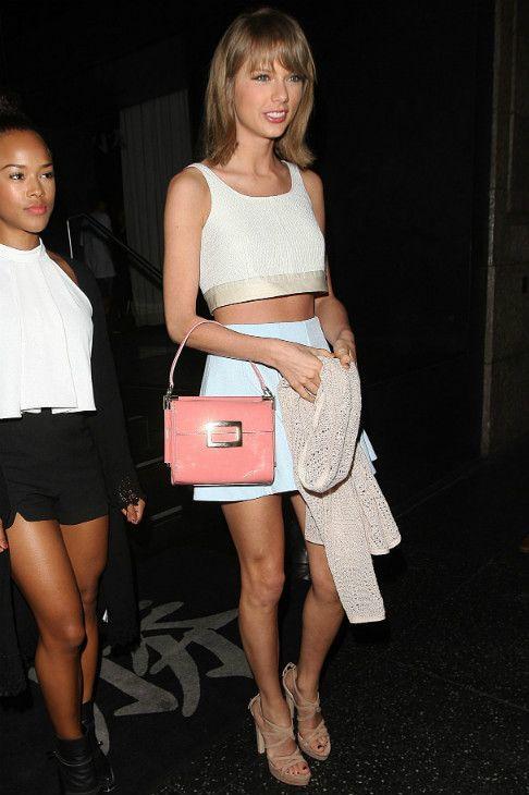 42f934df427b6 Taylor Swift wearing Miu Miu Crisscross Platform Sandal
