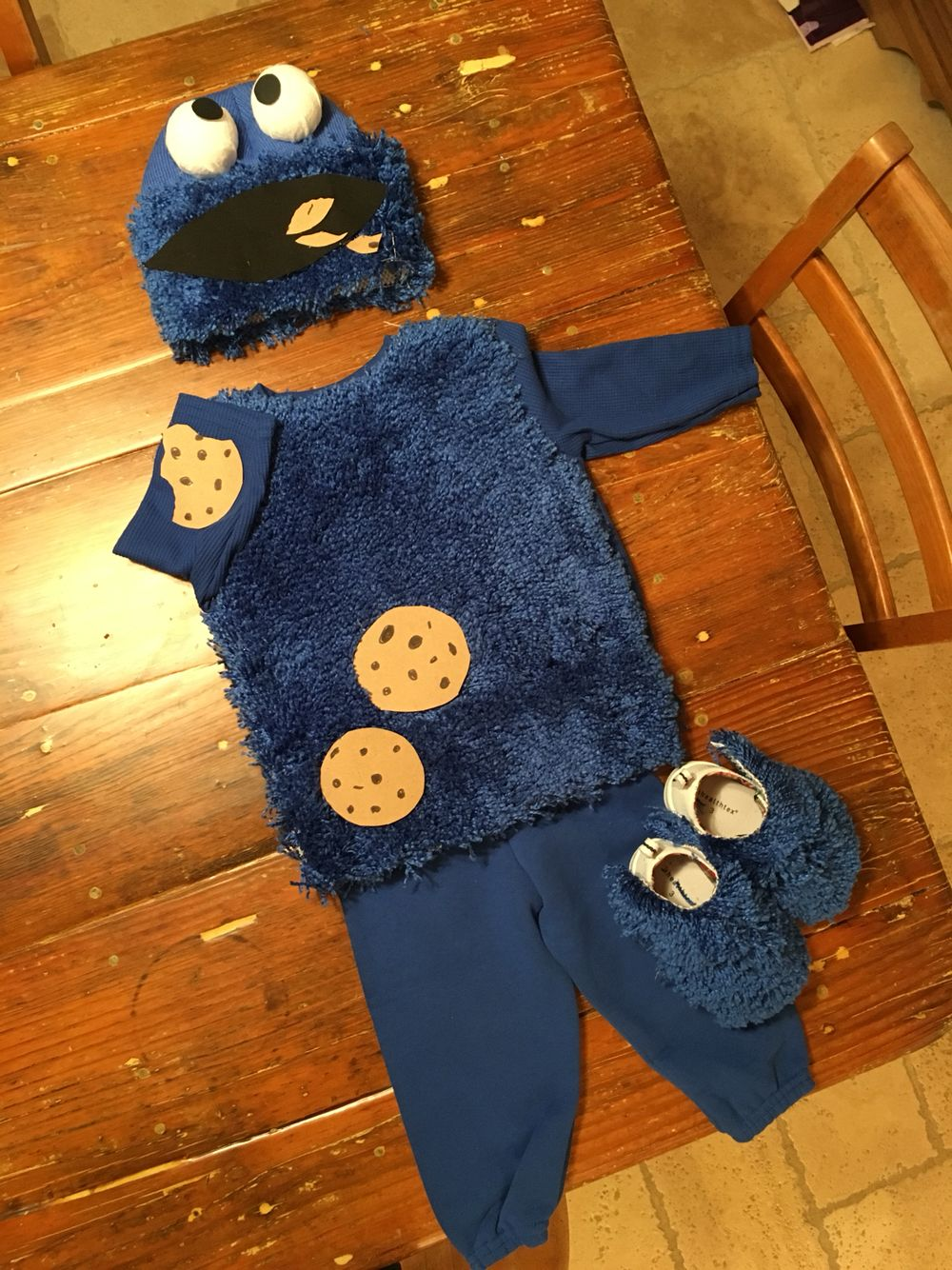 Diy Toddler Cookie Monster Costume Cookie Monster Halloween Costume Cookie Monster Costume Monster Costumes