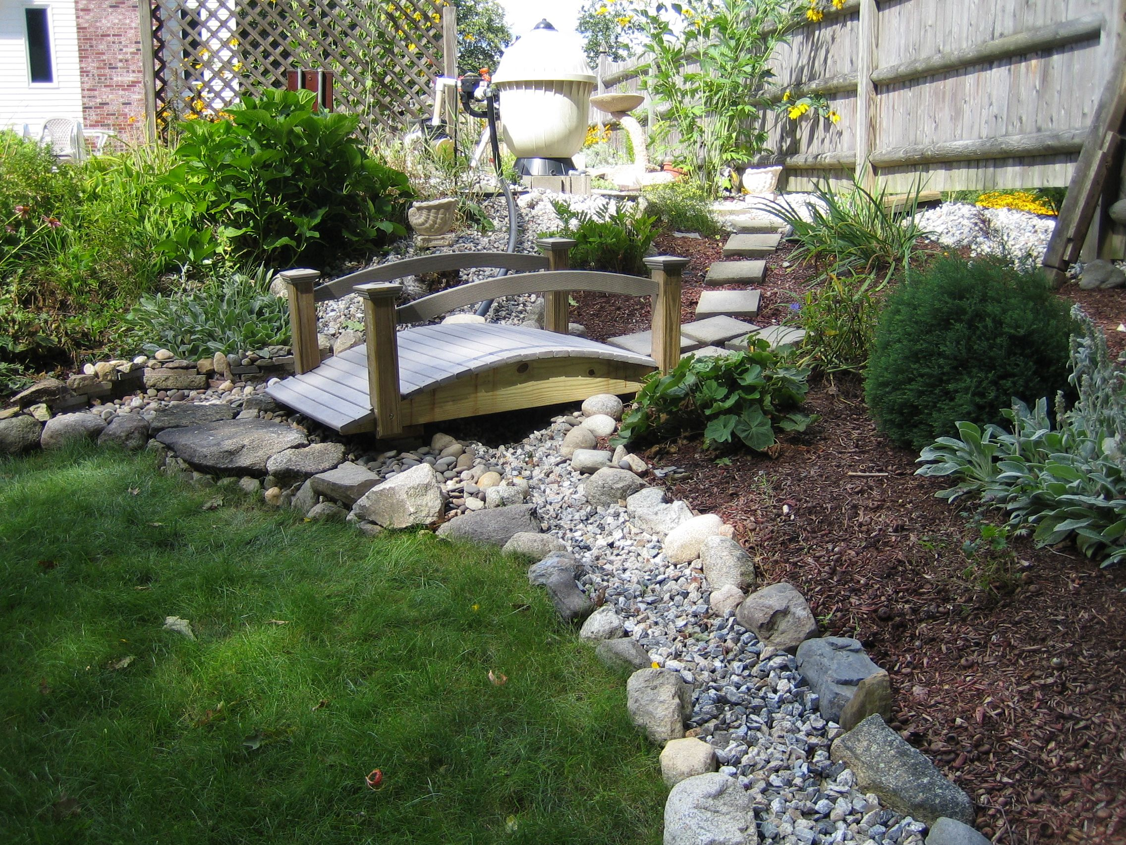 Dry River Bed To Direct Waste Water Away From Lawn