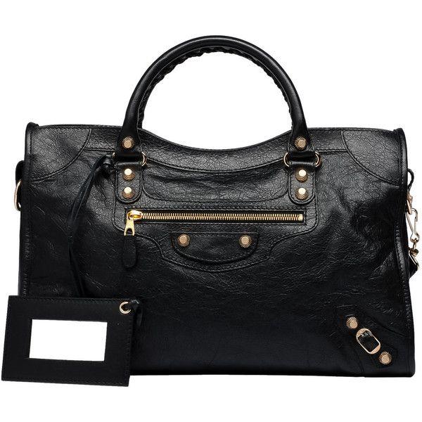 c6bee20b3f Balenciaga Giant 12 Gold City Giant City Handbags ($1,995) ❤ liked on  Polyvore featuring bags, handbags, shoulder bags, black, gold studded  handbag, ...
