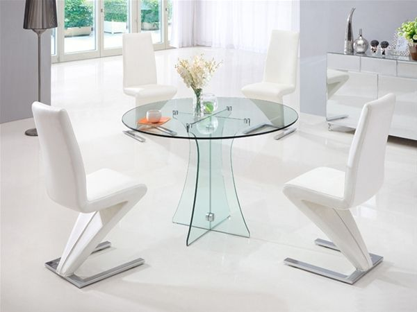 Dining Table And 4 Chairs 4 Seater Dining Sets Glass Dining For Custom Dining Room Table And Chairs For 4 Decorating Inspiration