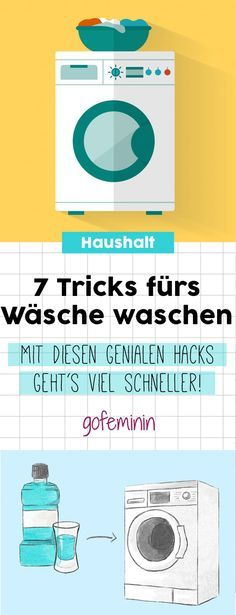 7 geniale haushalts hacks so wird w sche waschen viel einfacher tipps und tricks pinterest. Black Bedroom Furniture Sets. Home Design Ideas
