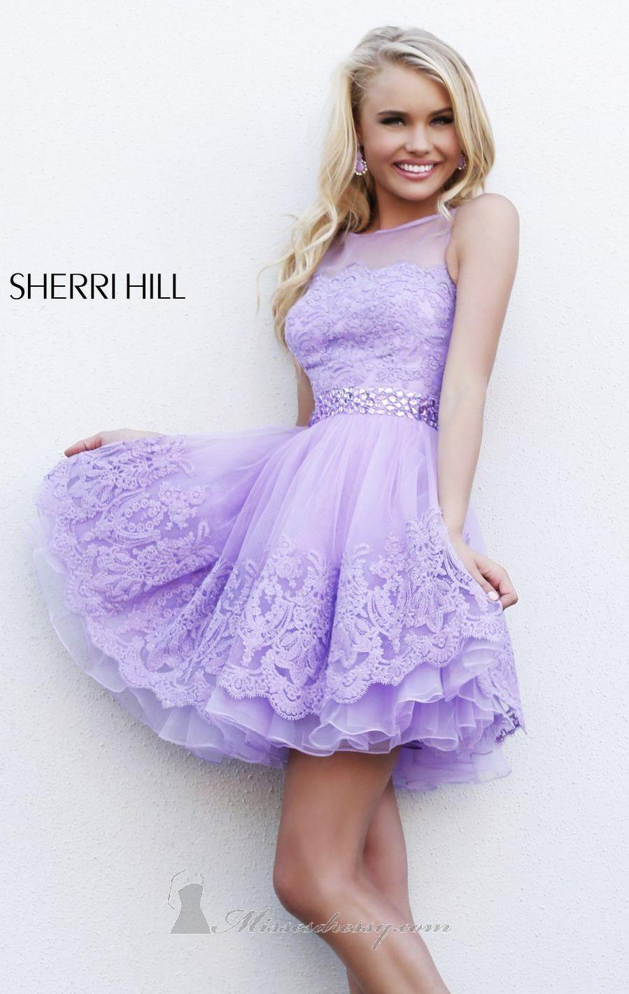 Embellished Mini Dress by Sherri Hill | Pinterest | Moda vestidos