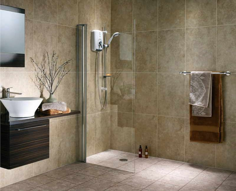 Bathroom Flooring For Walk In Shower With Chrome Wall