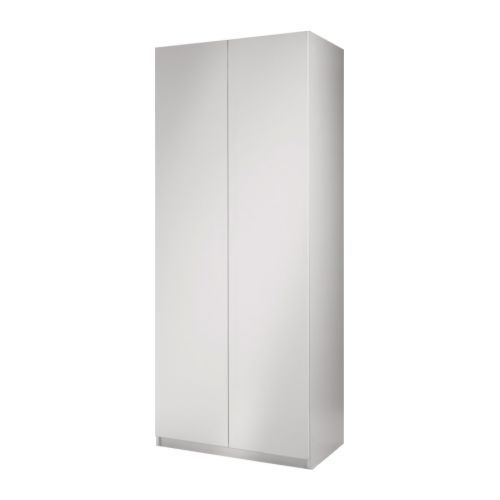 armoire pax avec porte fardal blanc laqu l 39 armoire peu profonde permettra de ranger manteaux. Black Bedroom Furniture Sets. Home Design Ideas