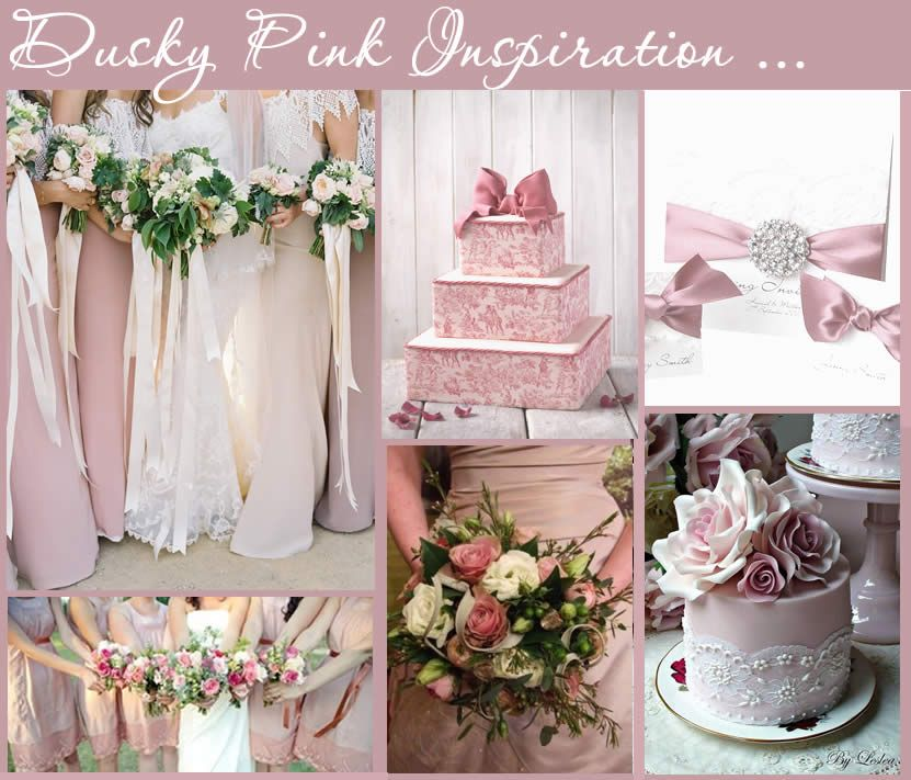 Pink Wedding Themes Ideas: Dusky Pink Stationery Colour Themes. Dusty Pink