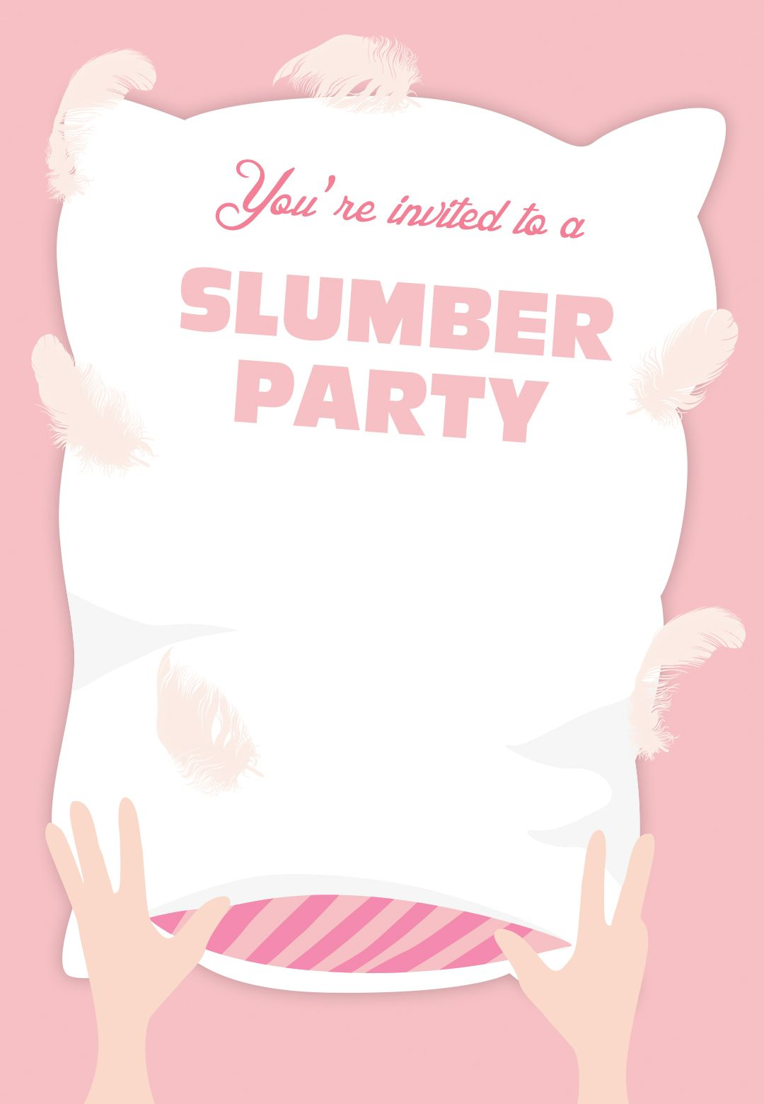 Free Printable Birthday Invitations For Kids freeprintables – Pajama Party Invitations Free