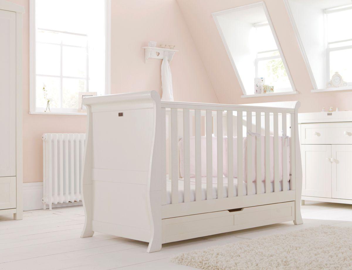 Silvercross Sleigh Cot Bed White Nursery Furniture