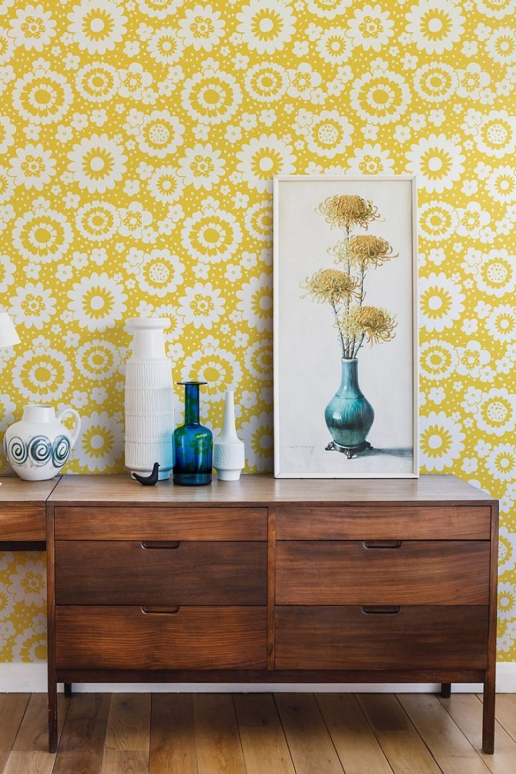Lovely Mod Meadows wallpaper designs from the new Layla Faye ...