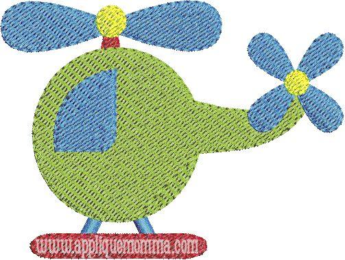 Helicoptor2 Mini Embroidery Design Moldes Apliques Pinterest