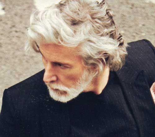 10 Meilleurs Hommes Avec Les Cheveux Gris Coiffures Elegantes Et Modernes Grey Hair Men Long Hair Styles Men Men With Grey Hair