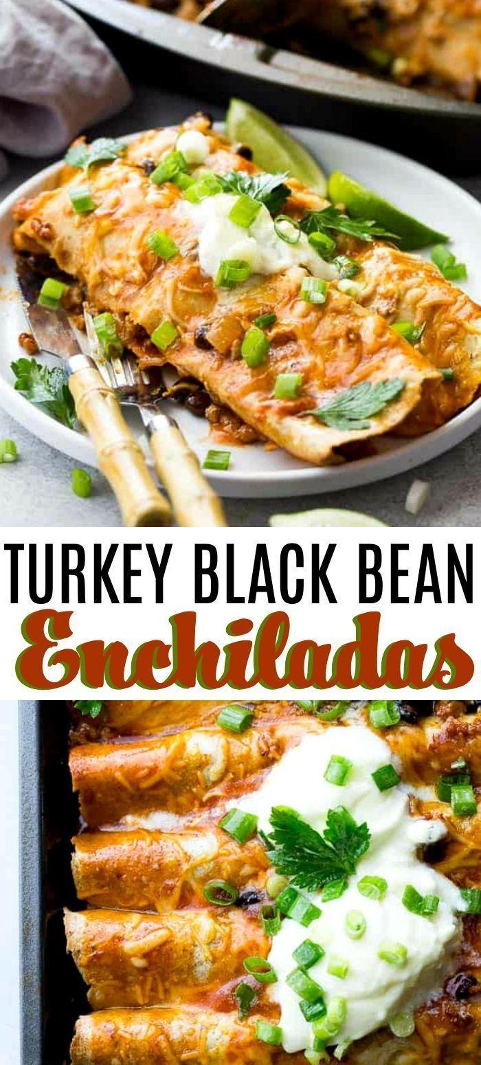 Photo of Ground Turkey Black Bean Enchiladas | Easy Ground Turkey Recipe