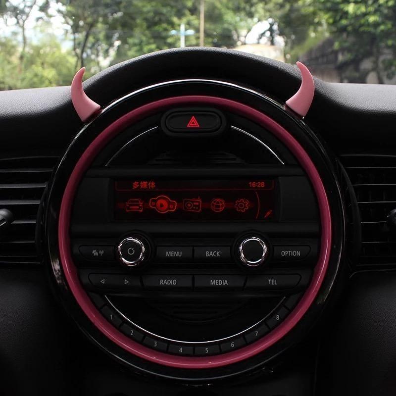 Cute Cars Accessories Discover Car Dashboard Interior Decoration - Devil horns