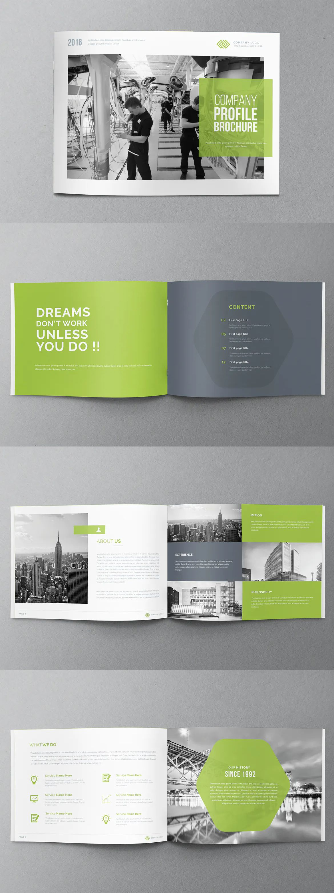 Annual Report Brochure Template InDesign INDD #annualreports