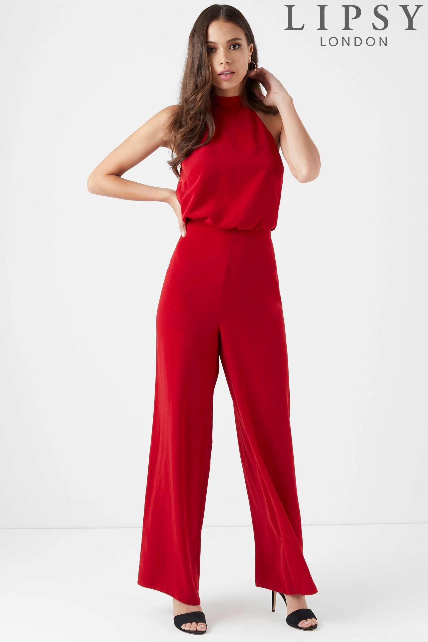 dcde2c4c1b0 Buy Lipsy Choker Palazzo Wide Leg Jumpsuit from the Next UK online shop