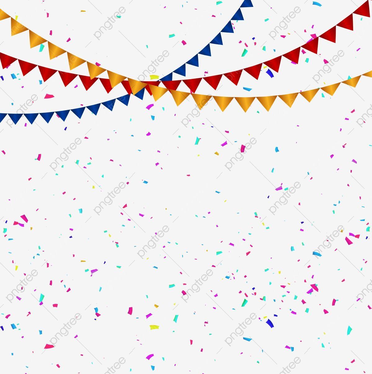Confeti Colorida Celebracion Y Bandera De Colores De Fondo Transparente Celebracion Fiesta Papel Picado Png Y Vector Para Descargar Gratis Pngtree Colorful Backgrounds Birthday Background Party Background