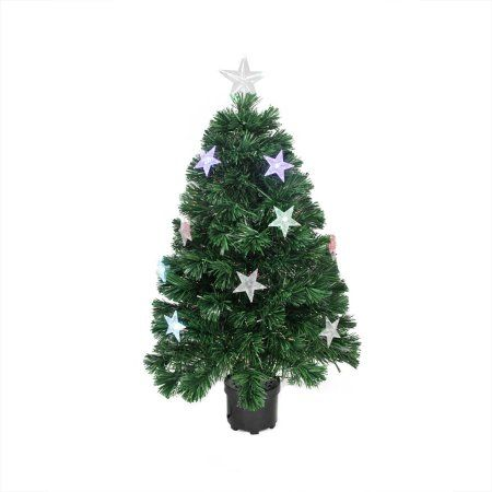 Northlight 4 Prelit Artificial Christmas Tree Led Fiber Optic With Color Changing Stars Walmart Com In 2021 Fiber Optic Christmas Tree Slim Artificial Christmas Trees Led Christmas Tree Lights