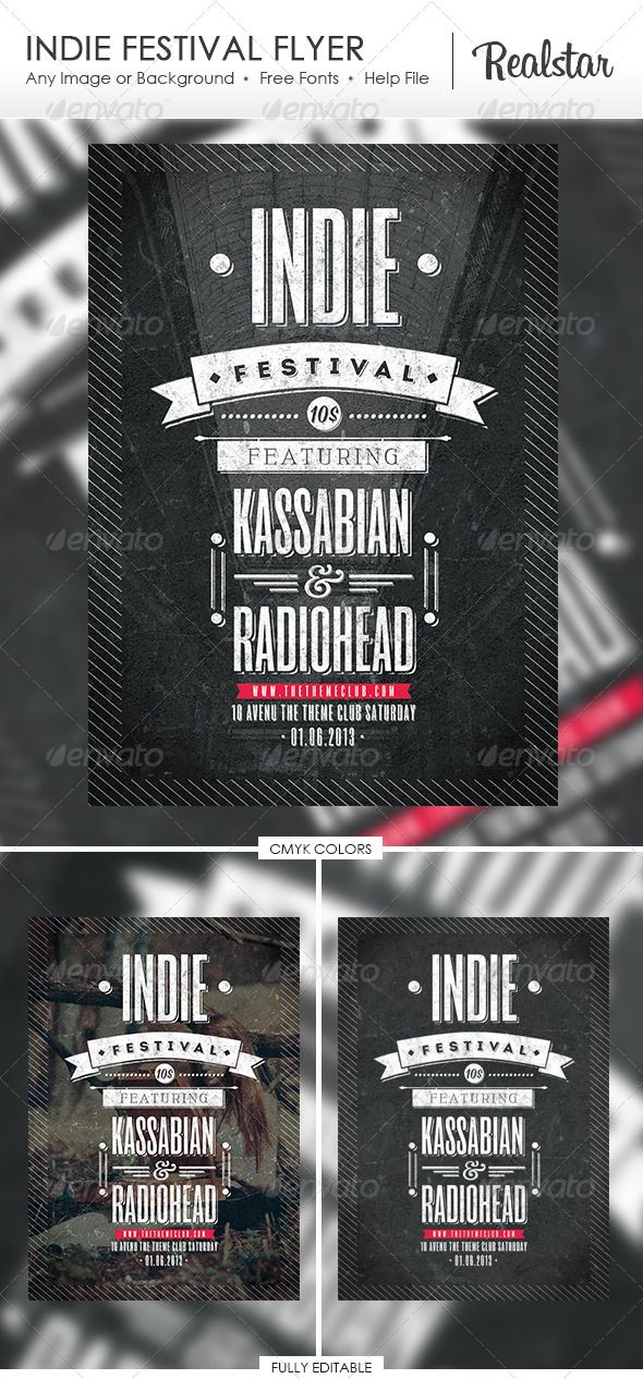 Indie Festival Flyer http://graphicriver.net/item/indie-festival-flyer/4727004
