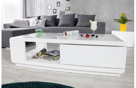 Table Basse Blanche Myley Structure En Bois Laque Blanc Haute Brillance Tiroir Pivotant Table Basse Blanche Table Basse Table Basse Design