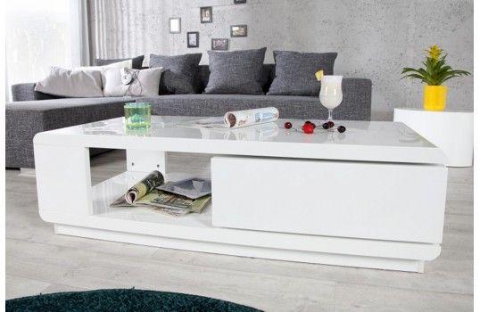 table basse blanche myley structure en