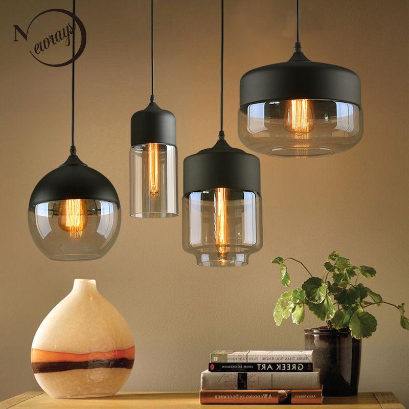 Neue kurze Moderne Zeitgenössische hängende Glas Pendelleuchte - led leuchten wohnzimmer