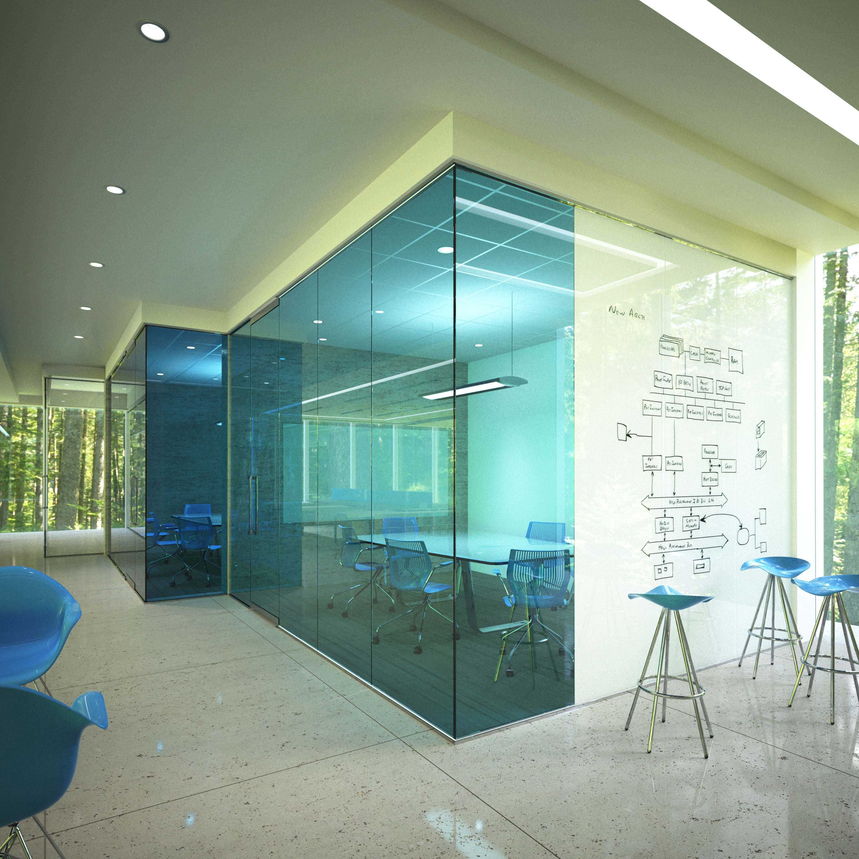 Gallery glass whiteboards and glass dry erase boards by for Oficinas creativas pequenas