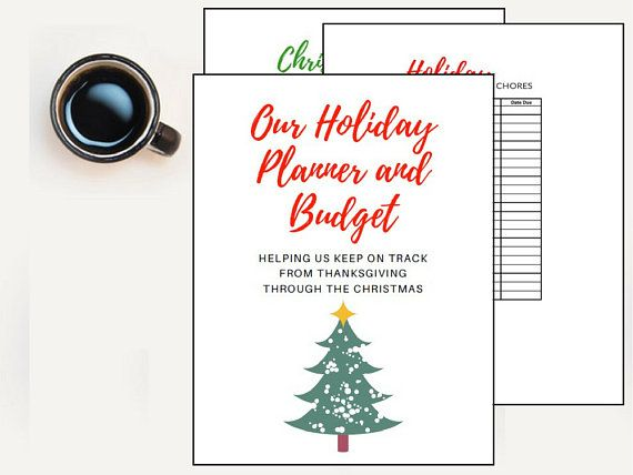 Holiday Budget Planner Christmas Budget Excel Spreadsheet