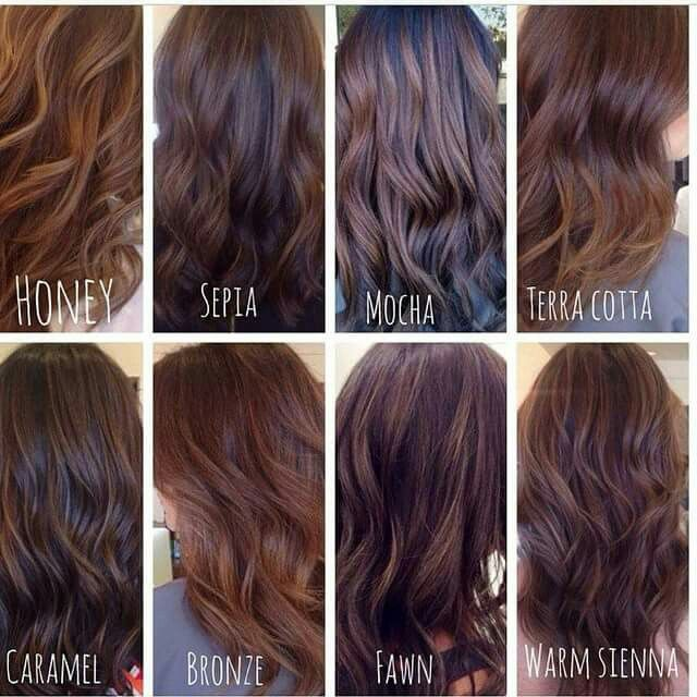 Shades Of Brown Brunette Hair Color Types Of Brown Hair Hair Styles