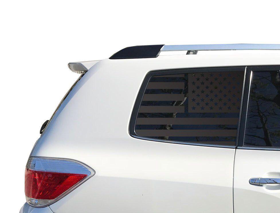 Toyota Highlander Usa American Flag Decal Set For Toyota