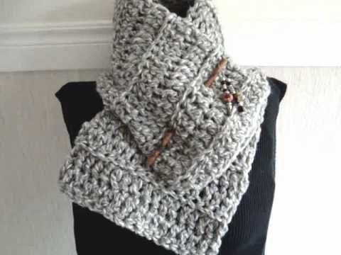HOW TO CROCHET A BEGINNER COWL, scarf, free crochet pattern. make ...