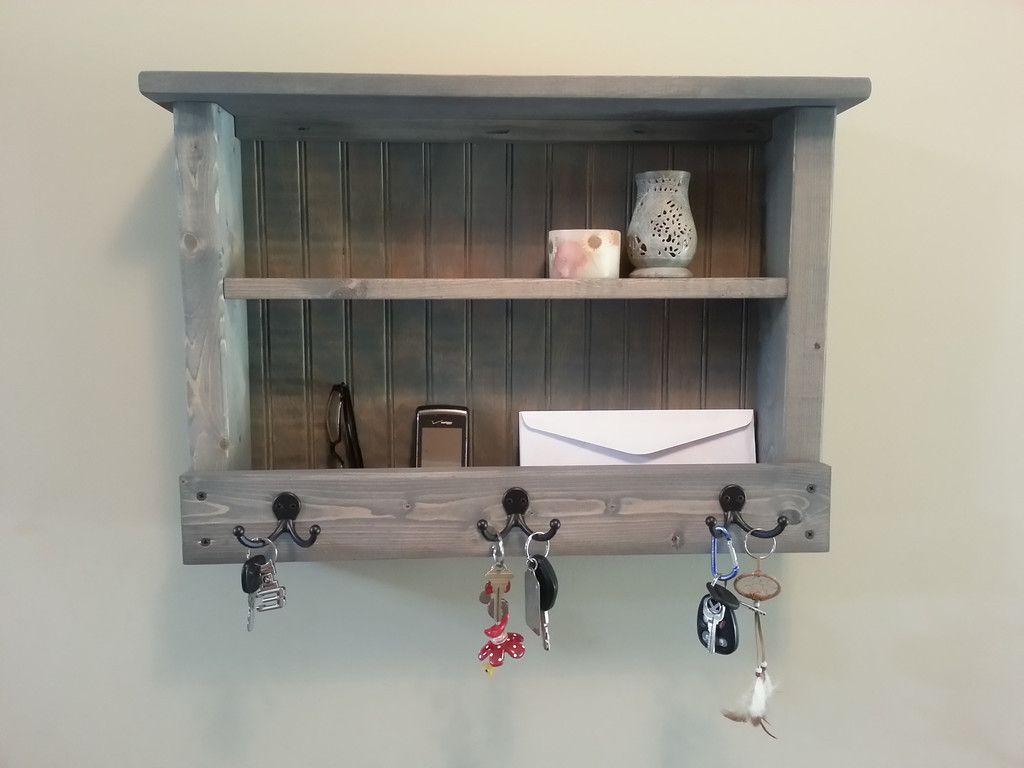 items similar to rustic hanging mail organizer mail phone and key organizer key hooks key rack coat rack on etsy