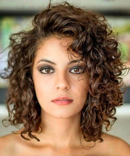 style medium length curly hair best shoulder length curly hairstyles 2018 for 2858
