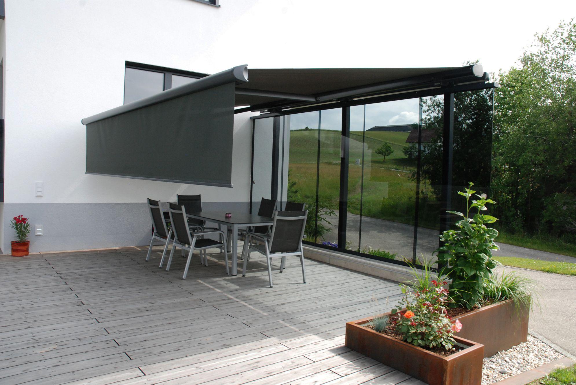 Terrassen Windschutz Markise Windschutz terrasse