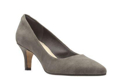 Clarks Isidora Faye Dark Grey Suede Womens Smart Shoes