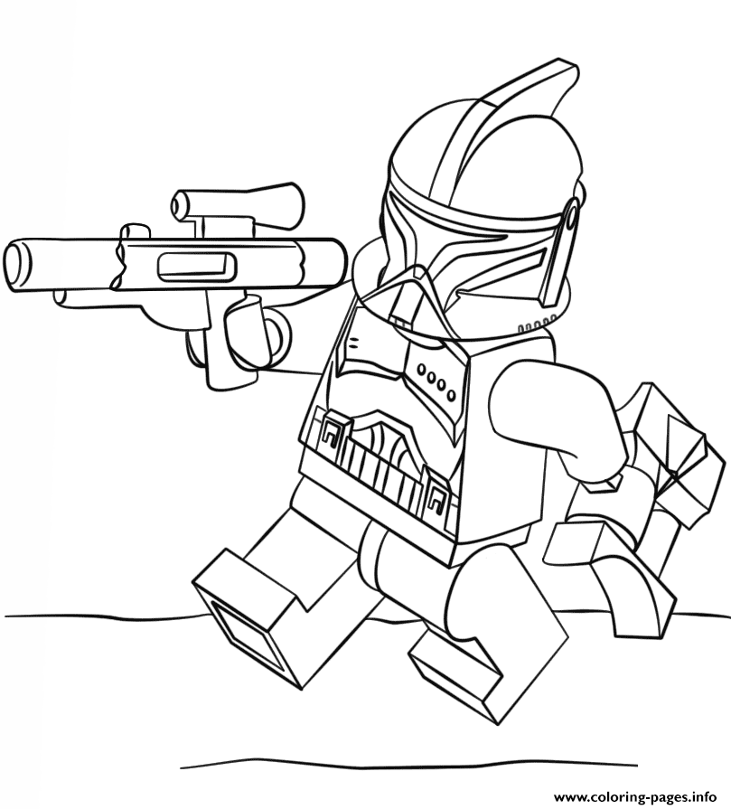 Print lego clone trooper coloring pages
