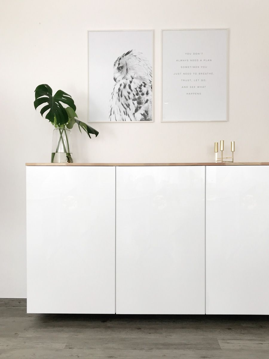 ikea hack metod k chenschrank als sideboard ku a pinterest. Black Bedroom Furniture Sets. Home Design Ideas