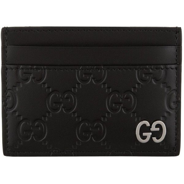 6fbe1991 Gucci Dorian GG Embossed Leather Card Holder (1,345 AED) ❤ liked on ...