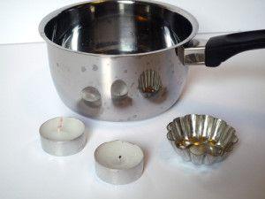 tuto no l fabriquer des bougies parfum es avec le reste des bougies chauffe plat bougies. Black Bedroom Furniture Sets. Home Design Ideas