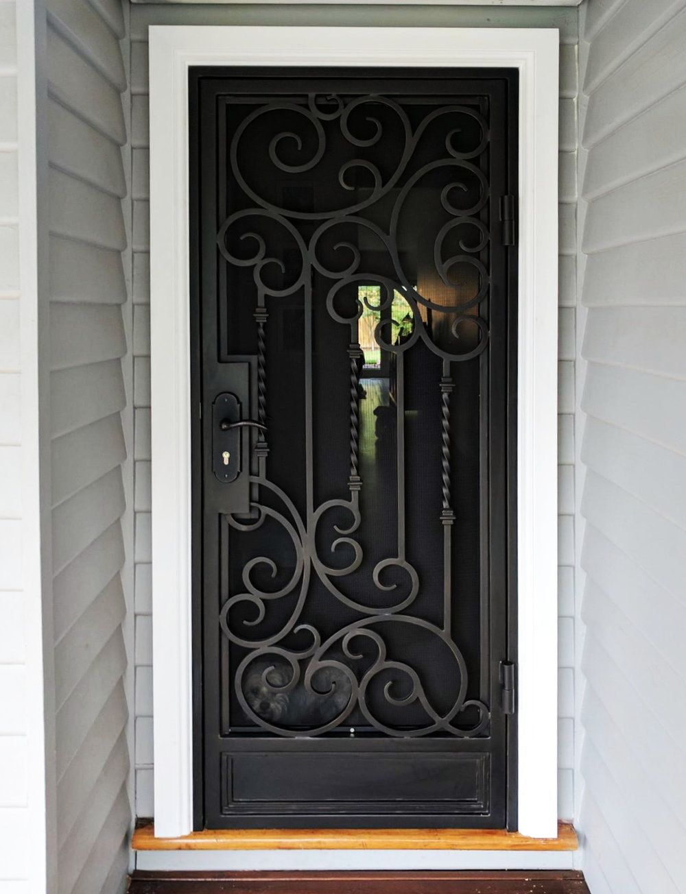 A Unique Wrought Iron Security Entry Door By Adoore Iron Designs