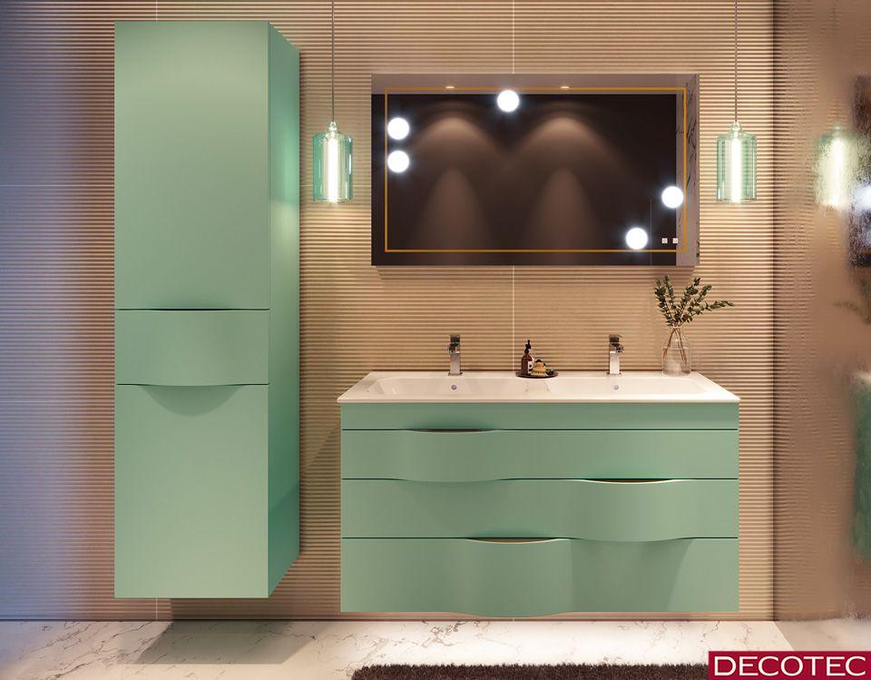 Illusion Nouveaute 2018 Ou La Fascination En Trompe L Oeil La Finition Extra Mate Vert D Bathroom Sink Cabinets Bathroom Vanity Cabinets Modern Bathroom