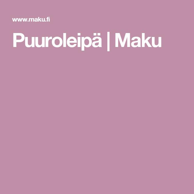 Puuroleipä | Maku