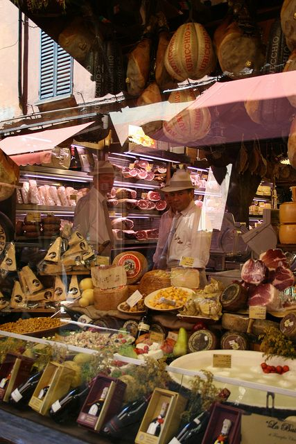 Food shopping in Bologna ... by evbjone, via Flickr