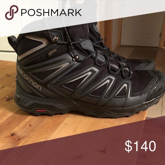 low cost 695ff 1a49b Salomon Hiking Boots Salomon X Ultra 3 Wide Mid GTX. Black ...