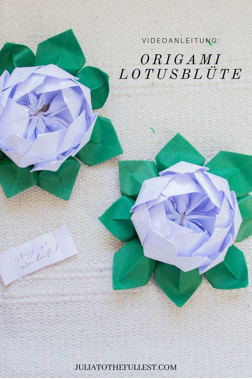Photo of #DIY #lotusblute #mit #origami #Origami Blume #videoanleit