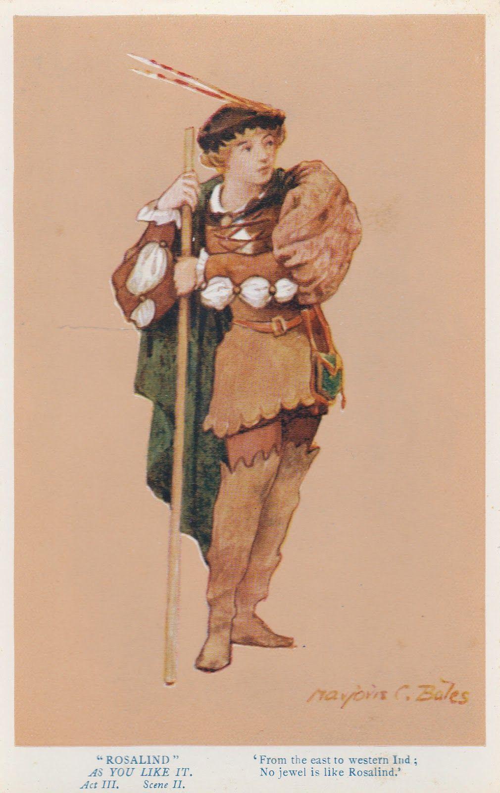 Funereal Ephemera: Shakespeare Character Illustration Postcards
